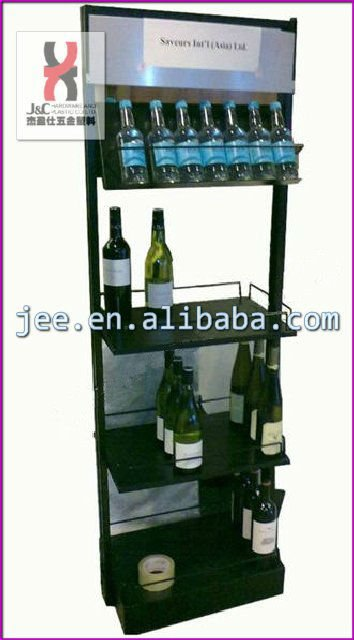 Contemporary Wall-mounted Whiskey Wine Bottle Shelf Display Rack/decorative  Wine Retail Display Holder - Buy Contemporary Wall-mounted Whiskey Wine
