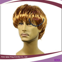 fashion short synthetic light brown men hair wig