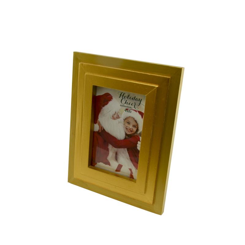 Best quality  square mini christmas santa  golden photo frame