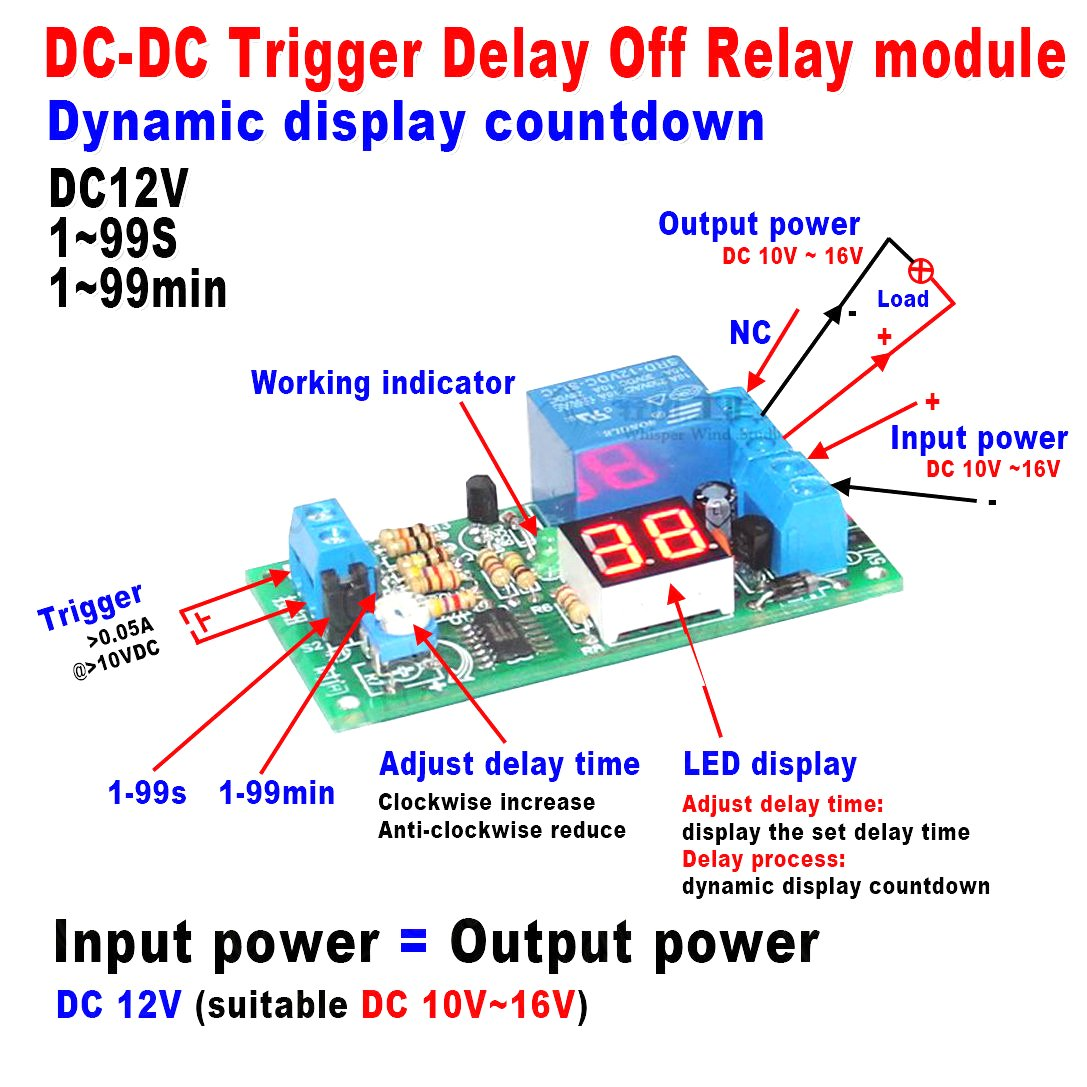 Cheap Delay 12v Find Deals On Line At Alibabacom Trigger Timer Get Quotations Qianson Dc 24v Led Digital Display Turn Off Control Switch Relay Module