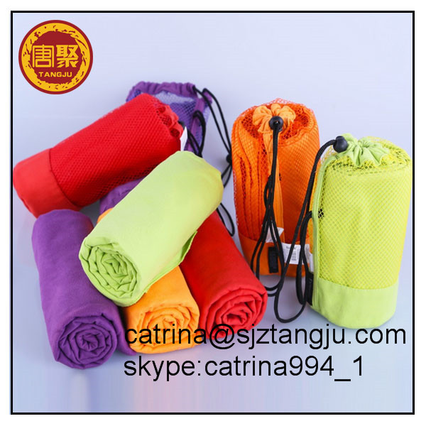 Outdoor Sports Microfiber Towels / Compact Absorbent Fast Drying Travel Sports Towels / Swimming Yoga Hand
