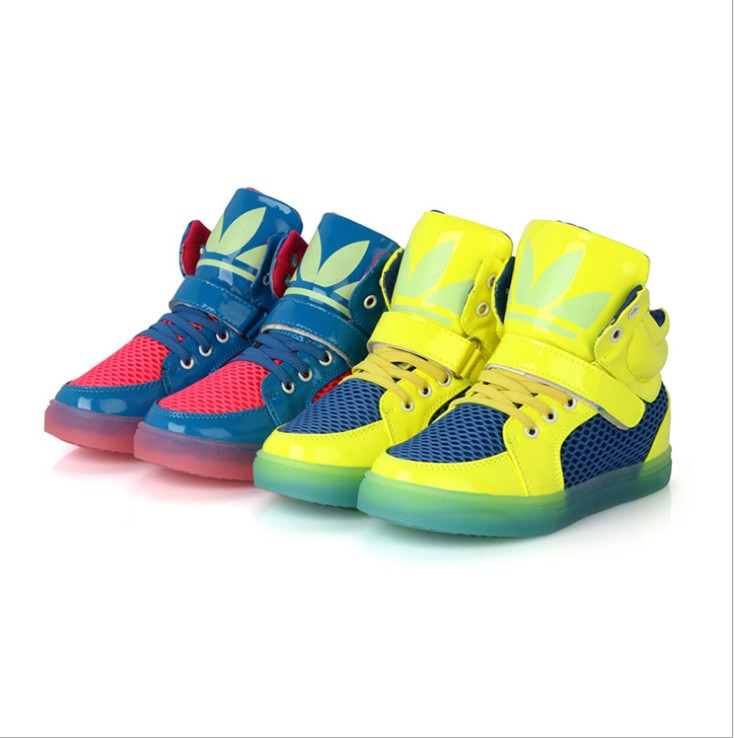 2015 hot baby fashion shoes, boys and girls of the fluorescence light shoes, children shoes size: 26-37 free shipping