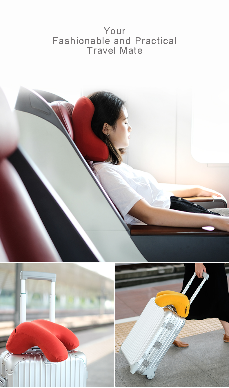 New Unique Health Care Comfort Breathable Summer Visco Memory Foam Lumbar/Sleeping /Travel Nap Neck Multifunction Pillow