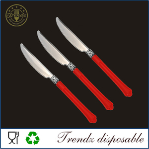 SC401 Disposable PP Handle Fancy Flatware Plastic Cutlery Set