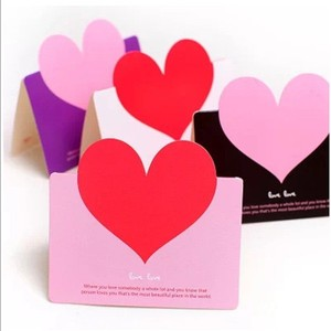 Custom Heart Shape Wedding Invitation Card with Envelope handmade greeting card