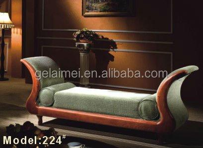 224 # houten lange bank stoel woonkamer chaise lounge stoel-hotel ...