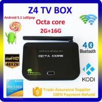 Octa Core Rk3368 Cpu Android l 5.1 Lollipop Smart TV Box,Z4 Android TV Box