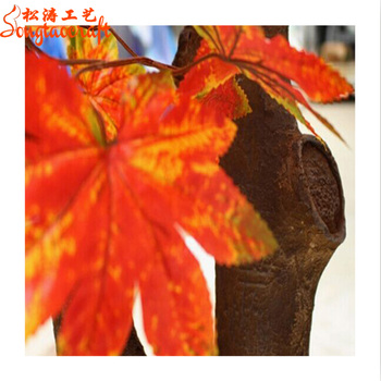 12pcs 60cm Length Red Maple Leaf Tree Leaf Leaves Branch Silk Artificial For Wedding Home Office Decoration