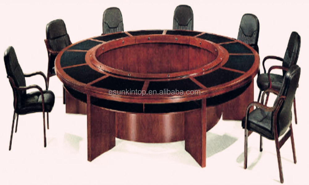 Luxury Round Executive Meeting Conference Table Office Furniture Desk