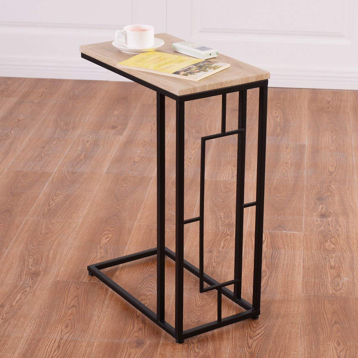 KCHEX>Modern Coffee Tray Side Sofa End Table Ottoman Couch Room Stand TV Lap Snack>Our modern C shape coffee tray side sofa end table Can be used as end tables, lamp tables, decorative displays tables