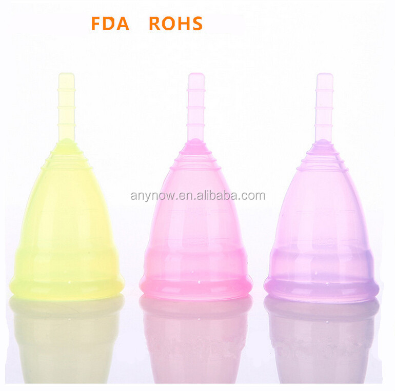 waterproof FDA ROHS Approved High quality Silicone Menstrual cups for Girls