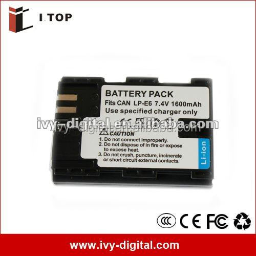 7.2V 1800mAh Rechargeable Replacement Li-Ion Camera Battery LP-E6 for Canon EOS 5D Mark II
