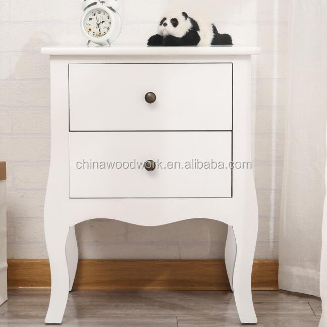 White color solid wood cabinet with drawers