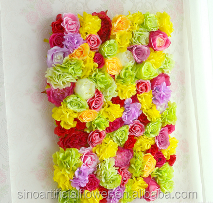 Wedding Decorative Backdrop Panels Artificial rose flower wall