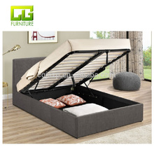 Latest Bed Design 4ft Berlin Small Double Grey Fabric Ottoman Bed Frame