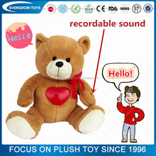 2016 stuffed bear toy voice recorder for plush toy