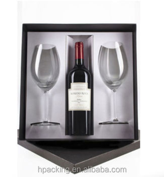 Paper Wine Bottle And Glass Box/ Gift Boxes For Wine Glasses - Buy ...