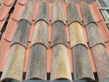 Campione del tetto con chiaro e scuro champagne piastrelle di