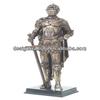 Resin Knight With Sword Standing Guard Statue