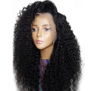 Wholesale 100% Virgin Human Hair Wigs Glueless Curly Full Lace Wig For Black Women