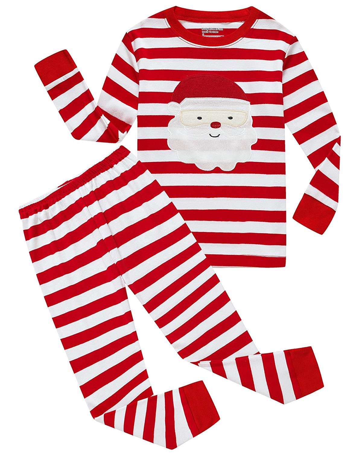 Get Quotations · Dolphin Fish Boys Christmas Pajamas Big and Little Boys PJS  Cotton Sleepwears Toddler Clothes 6998592ed