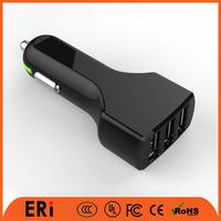 Rohs CE bulk type c mini battery 3 multi port usb car charger cell phone
