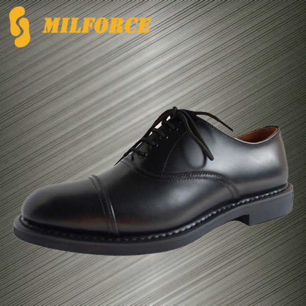 Goodyear Stitching Genuine Cow Leather Police Shoes Men Office ...