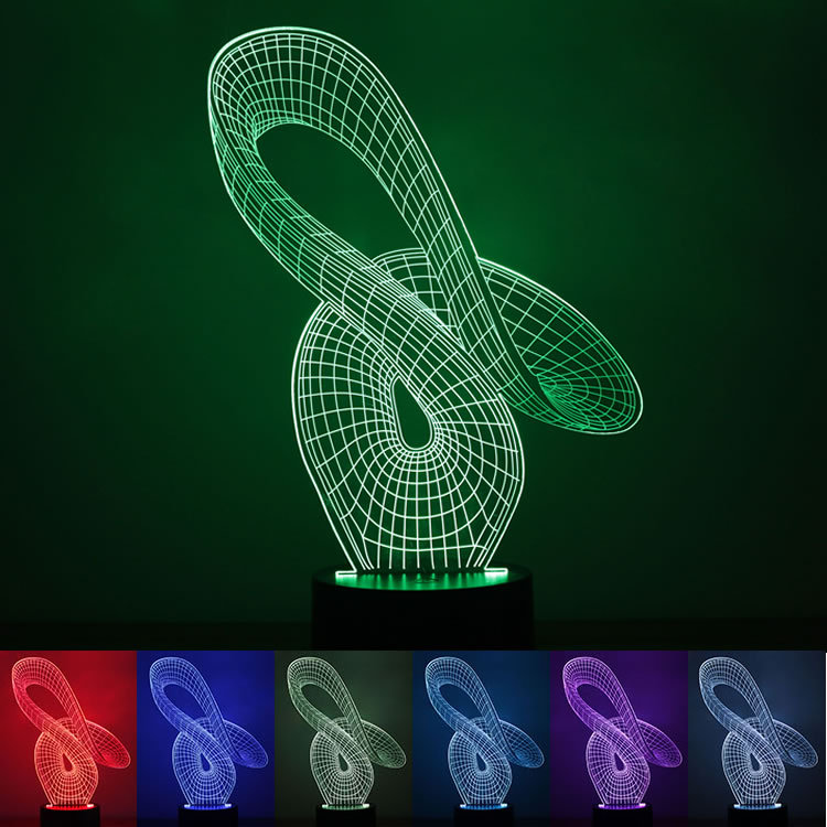 Neutral creative Abstract 3D Nightlight gift 1.5W USB power LED lamp intelligent Home Furnishing Christmas lamp