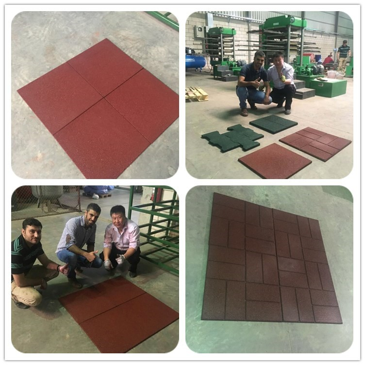 Rubber Flooring Play Ground Rubber Tile making machine