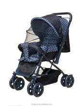 foldable baby stroller with reversible handle bar