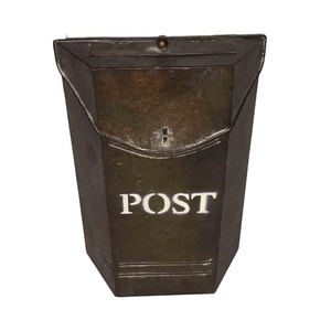 Wall Mounted Iron Letterbox Metal individual designer Home Decoration Copper Color Post Box Mail Box