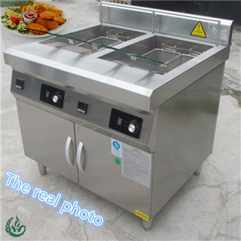 Chuhe New Cabinet Double tank Commercial Electric Induction Deep Fryer In Fryer 30 L Online Support