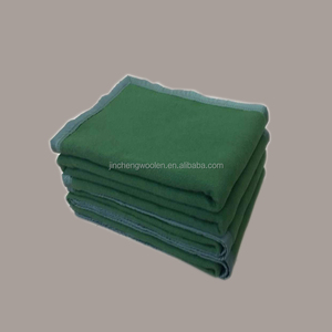 Stamped Olive Green blanket heavy weight military disaster relief blanket
