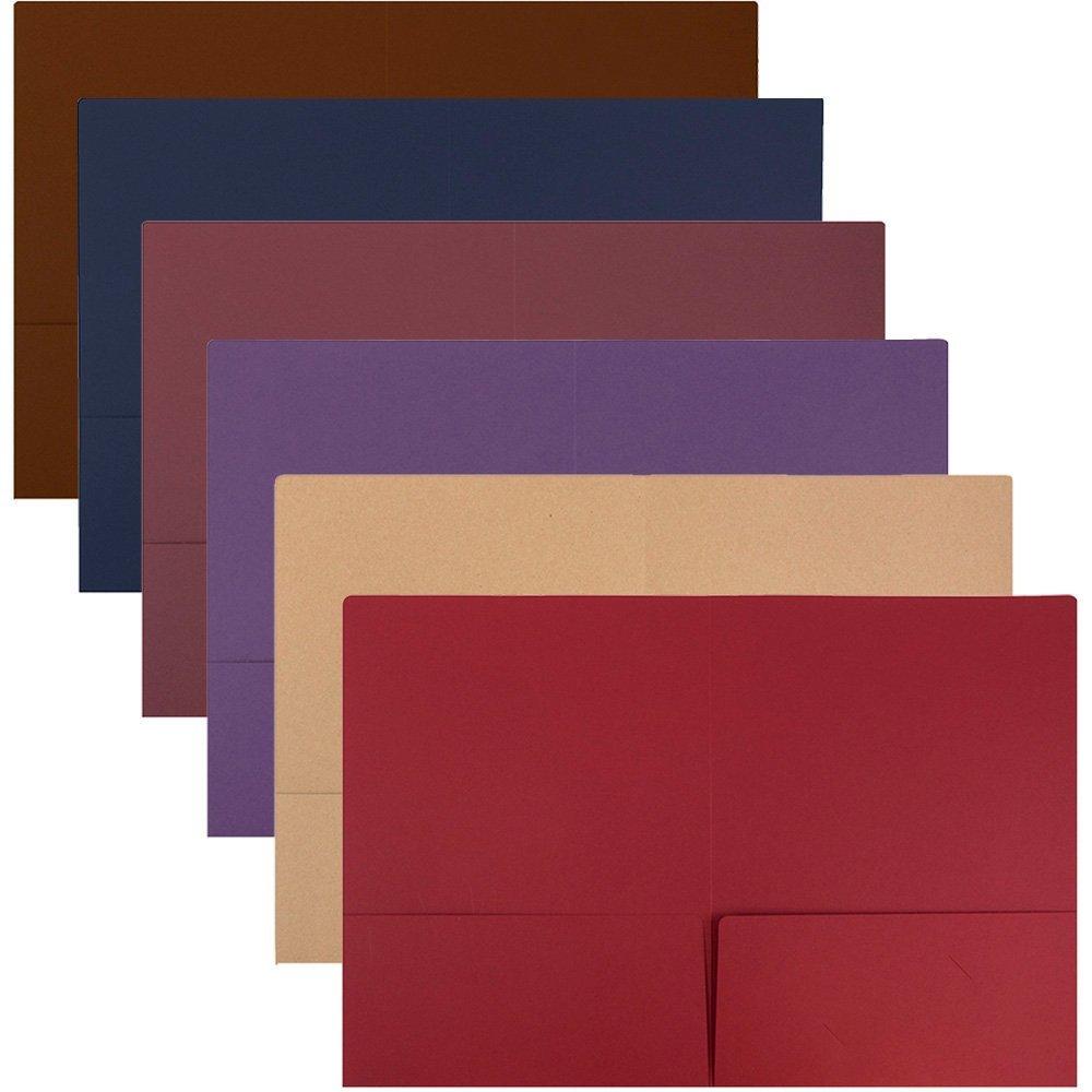 Buy JAM Paper 2 Pocket Matte Cardstock School Presentation