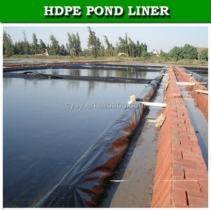 Fish farming black HDPE Impermeable Membrane lowes pond liner