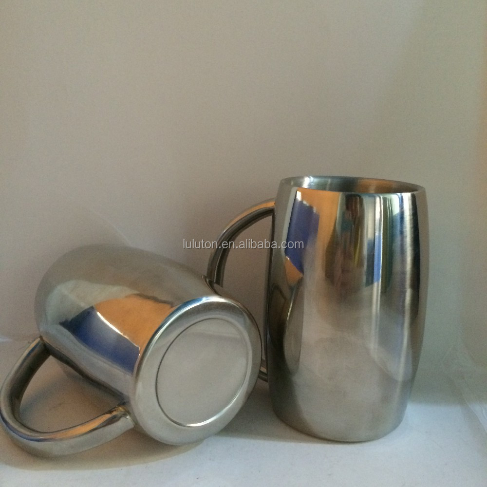 insulated porcelain stainless steel mug