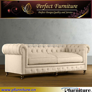 2014 Latest Sofa Design Living Room Used Chesterfield Leather Sofa PFS4149