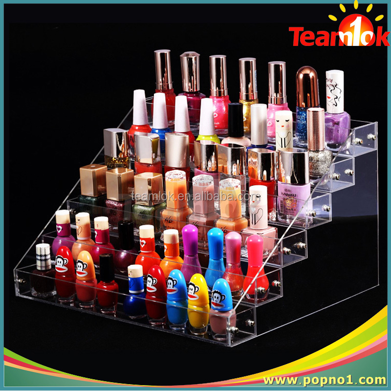 2015 luxury cheap price table top acrylic rotating lipstick display stand