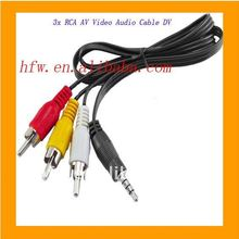 Hotsell 3.5mm male to 3 rca femal cable