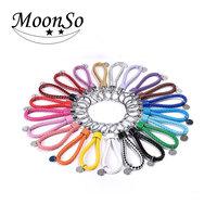 Fashion leather key holder Keychain/ key Ring Chain moonso KY2381