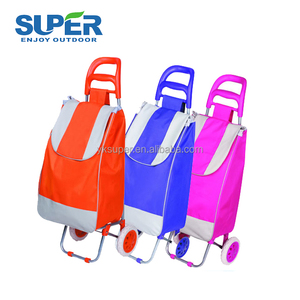 OEM Reusable 30L supermarket foldable shopping trolley
