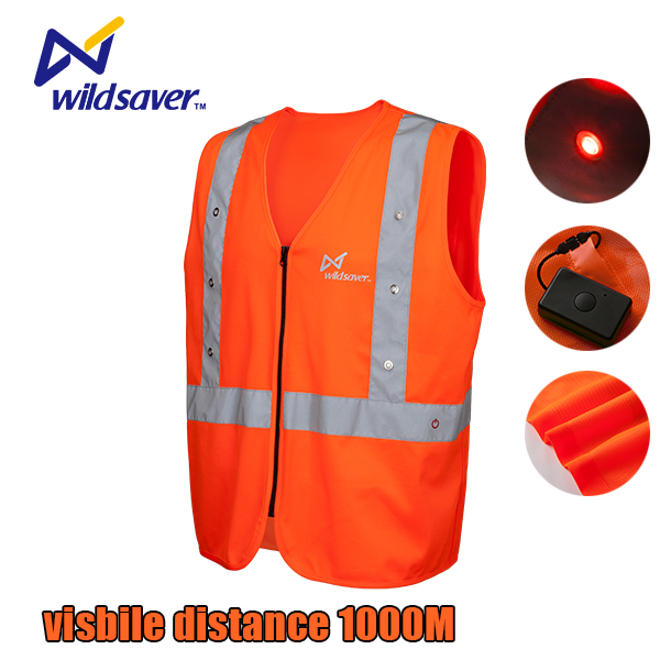USB powered LED warning light flexible collapsible road sign traffic cone with reflective tape
