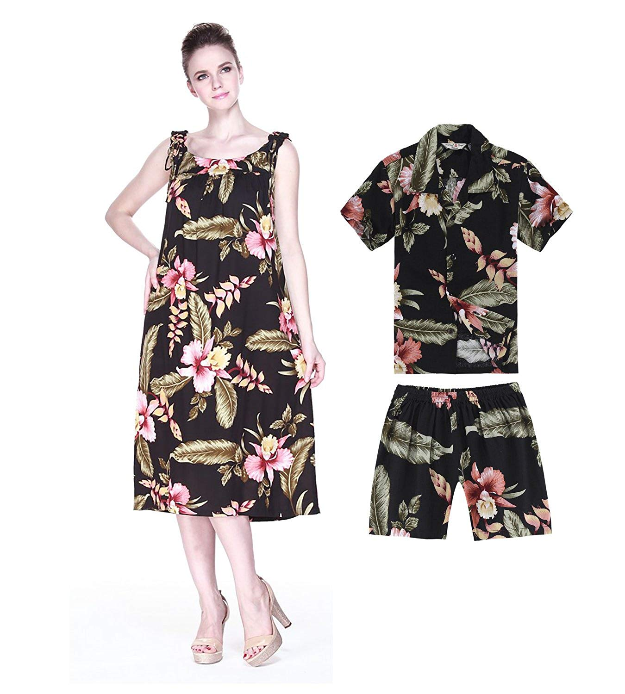 949707dbf41c Get Quotations · Hawaii Hangover Matching Mother Son Hawaiian Luau Outfit  Melani Dress Shirt In Cream Rafelsia