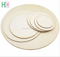 customized wooden circles laser cut wood round pieces