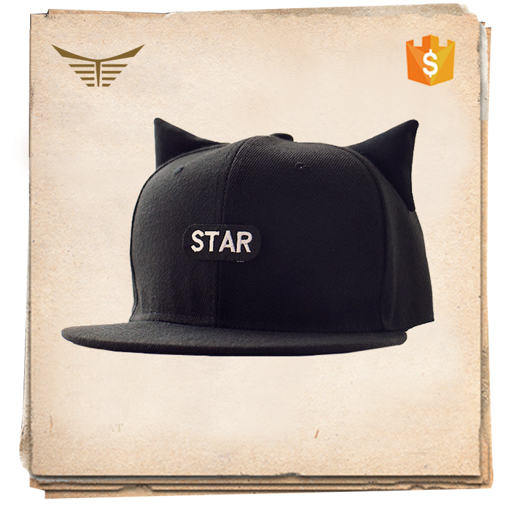 2016 new fashion snapback flat cat ears snpaback caps best selling hat cap