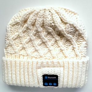 wireless bluetooth headset beanie hat knit beanie winter hat with bluetooth headphone winter cap