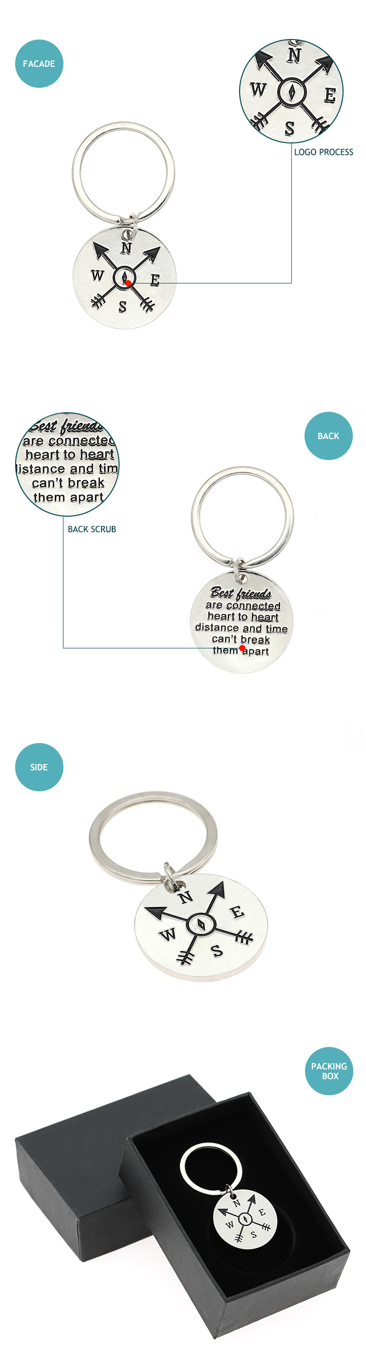 2019 made in china stainless steel key chain with logo