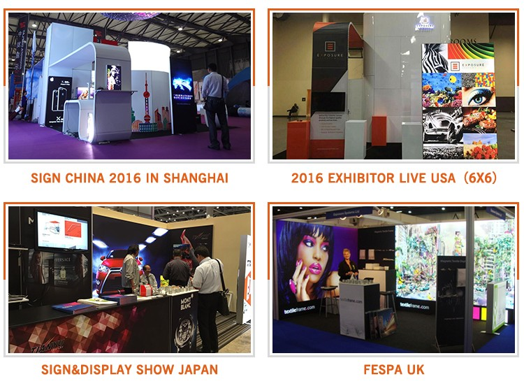 Trade Show Advertising Fabric SEG Aluminum Profile Picture Frame Photography Textile Frameless LED Backlit Light Box