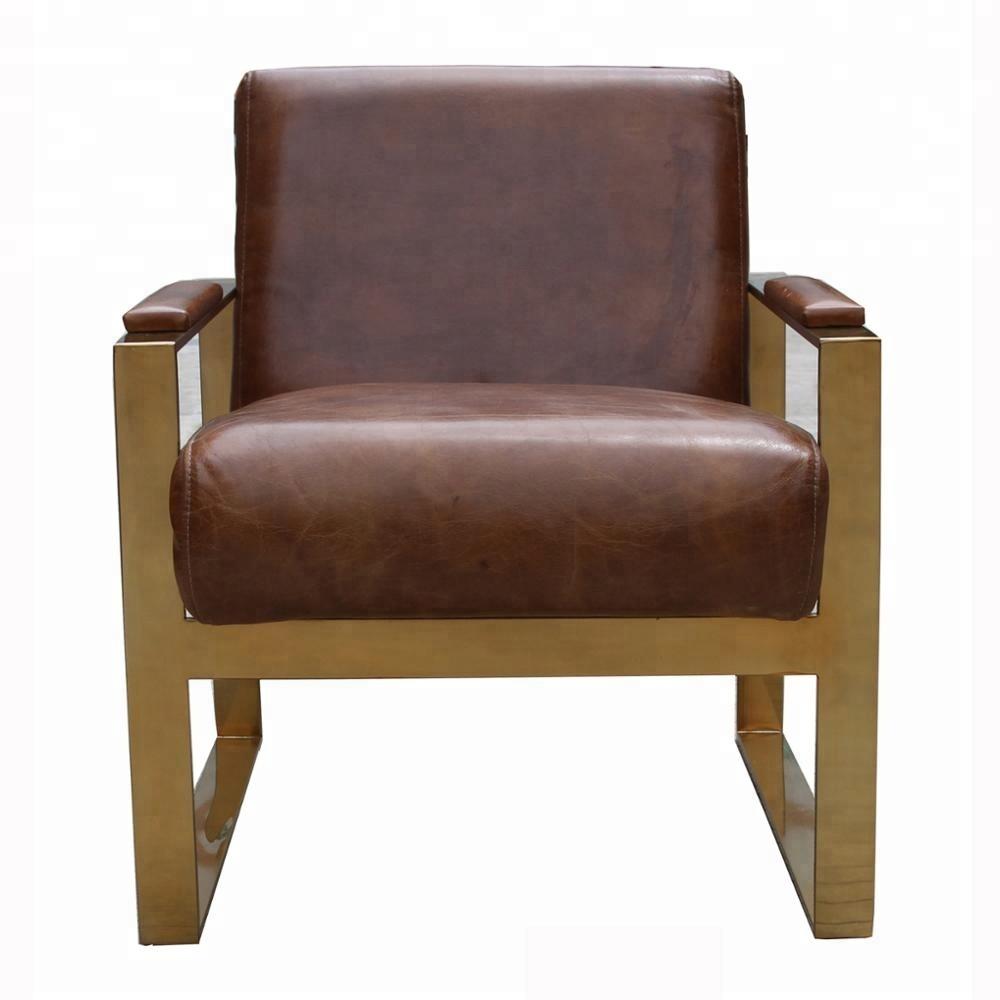 Leren Lounge Fauteuil.Messing Metalen Arm Vintage Lederen Lounge Fauteuil Buy Vintage