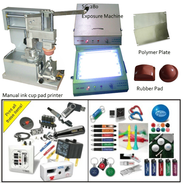 free shipping manual pen pad pring machine with ink cup, easy to operate -  Wholesale Gadgets, 3D Printers and Supplies